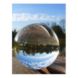 クリスタル・ボールを通して見られる小さい海 ポストカード