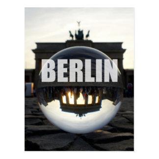 クリスタル・ボールを通して、ブランデンブルク門 ポストカード