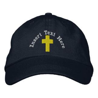 クリスチャンによって刺繍される帽子 刺繍入りキャップ