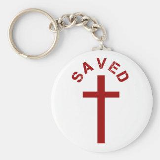 クリスチャンによって救われる赤十字および文字デザイン キーホルダー