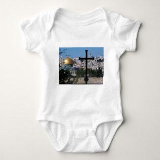 クリスチャンのためのエルサレム ベビーボディスーツ