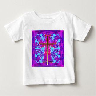 クリスチャンのステンドグラス窓 ベビーTシャツ