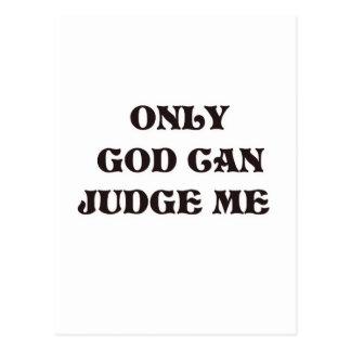 """クリスチャンの神だけ""""私が""""設計すると判断できます ポストカード"""