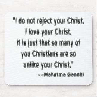 クリスチャンのGandhi マウスパッド