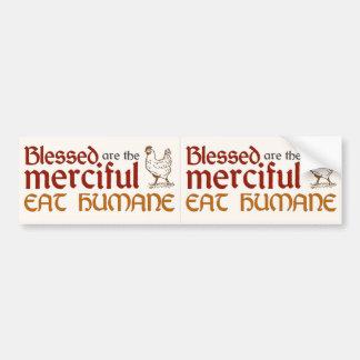 """クリスチャンは""""慈悲深い""""デカール(1)の2を食べます バンパーステッカー"""