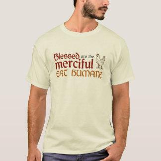 """クリスチャンは""""慈悲深い""""ワイシャツを食べます(規則的な) Tシャツ"""