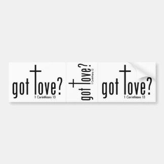 """クリスチャン""""得られた愛か""""。 デカール(白、1)の3 バンパーステッカー"""