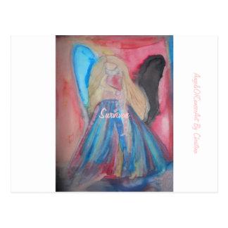 クリスティーナの水彩画の郵便はがきによるAngelsOfCancerArt ポストカード