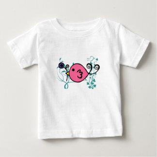 クリスティーナHansen著ピンクのすずめ ベビーTシャツ