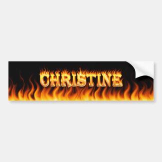 クリスティーンの実質火および炎のバンパーステッカーのdesi バンパーステッカー