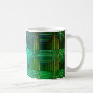 クリスティーンBässlerが作成する正方形パターン色 コーヒーマグカップ