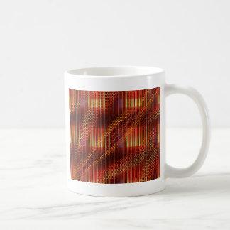 クリスティーンBässlerが設計しているパターン赤いモザイク コーヒーマグカップ