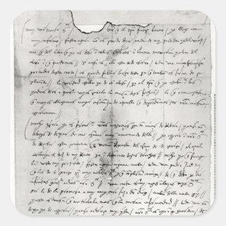 クリストファーが書く手紙の片 スクエアシール