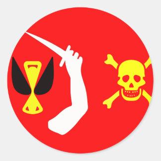 クリストファーの不機嫌な海賊旗 ラウンドシール
