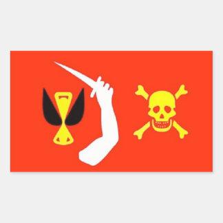 クリストファーMoodyの海賊旗のステッカー 長方形シール