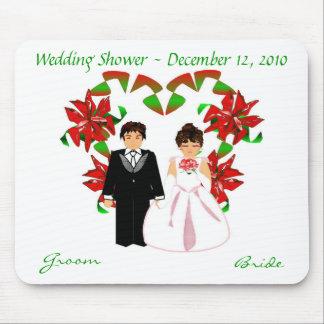 クリスマスか12月 結婚 シャワー I マウスパッド マウスパッド