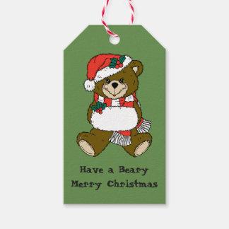 クリスマスくまのギフトのラベル ギフトタグ