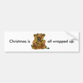 クリスマスくまライト バンパーステッカー