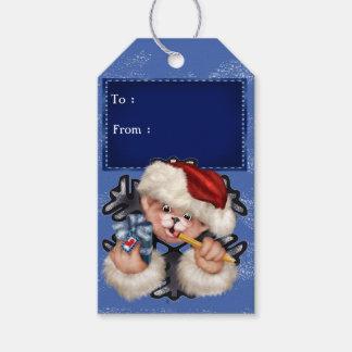 クリスマスくま2のギフトのラベル ギフトタグ