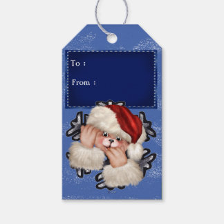 クリスマスくま3のギフトのラベル ギフトタグ