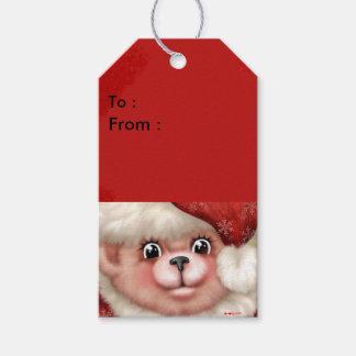 クリスマスくま5のギフトのラベル2 ギフトタグ