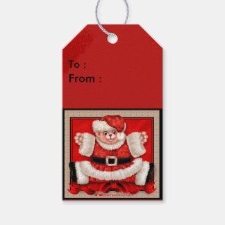 クリスマスくま5のギフトのラベル ギフトタグ
