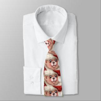 クリスマスくま5の漫画の首のタイ ネクタイ