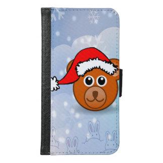 クリスマスくま GALAXY S6 ウォレットケース