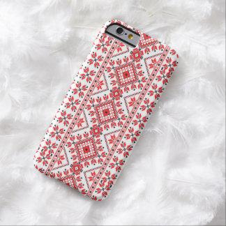 クリスマスによって編まれる赤と白のiPhone 6の箱 Barely There iPhone 6 ケース