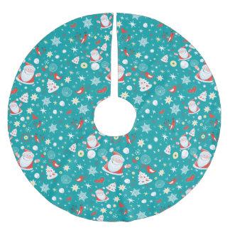 クリスマスのおもしろい ブラッシュドポリエステルツリースカート