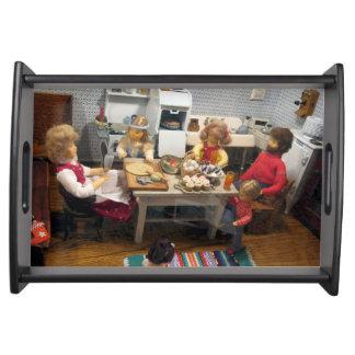 クリスマスのおもちゃの家の台所皿 トレー