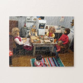 クリスマスのおもちゃの家の台所11x14パズル ジグソーパズル