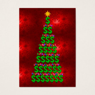 クリスマスのお金の木 名刺