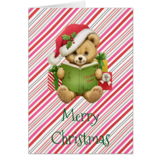 クリスマスのかわいいテディー・ベア カード