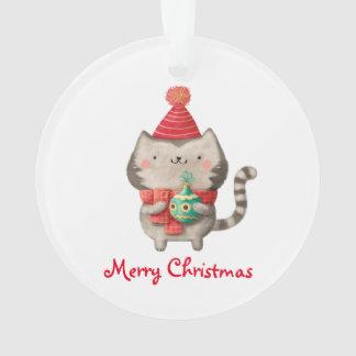 クリスマスのかわいい猫 オーナメント