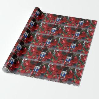 クリスマスのくるみ割りの包装紙 ラッピングペーパー