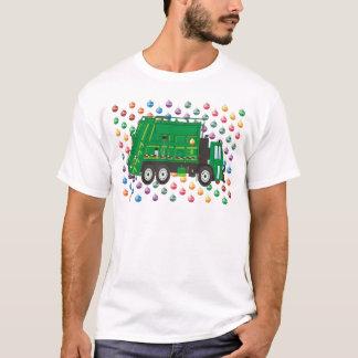 クリスマスのごみ収集車12月 Tシャツ