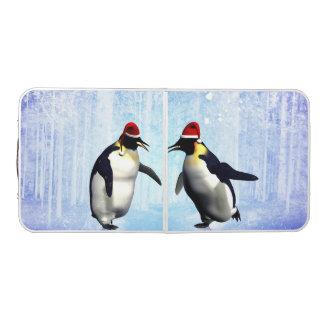 クリスマスのために踊ります、おもしろいなペンギン ビアポンテーブル