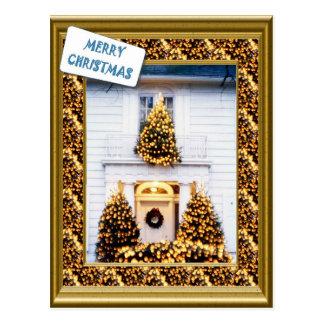 クリスマスのために飾られるヴィンテージ ポストカード
