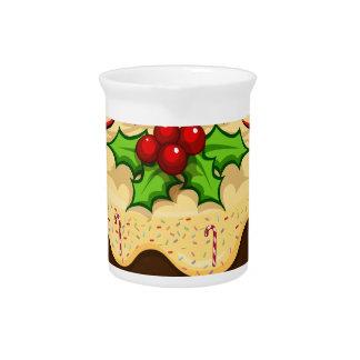 クリスマスのためのおいしいケーキ ピッチャー
