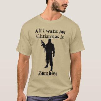 クリスマスのためのクリスマスのユーモアのゾンビ Tシャツ