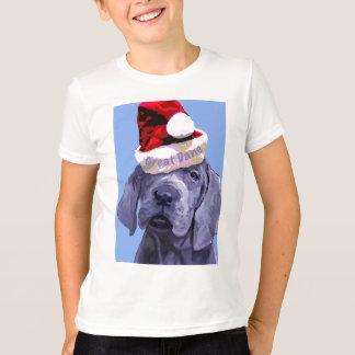 クリスマスのためのグレートデーンの子犬 Tシャツ