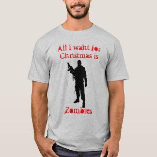 クリスマスのためのゾンビ Tシャツ