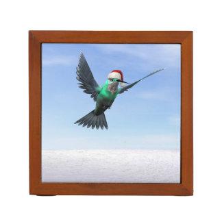 クリスマスのためのハチドリ- 3Dは描写します ペンスタンド