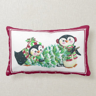 クリスマスのためのペンギンの枕 ランバークッション