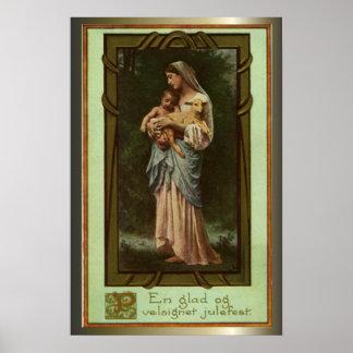 クリスマスのための出生場面ギフト ポスター