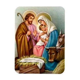 クリスマスのための出生場面ギフト マグネット
