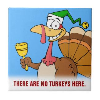 クリスマスのための感謝祭のトルコのおもしろいな変装 タイル