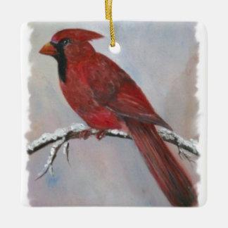 クリスマスのための(鳥)ショウジョウコウカンチョウ セラミックオーナメント