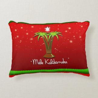 クリスマスのためのMele Kalikimakaのヤシの木 アクセントクッション